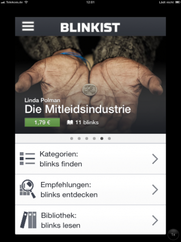 App Blinkist Screenshot