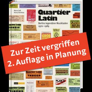 Cover Quiartier Latin-Buch mit vergiffen-Balken