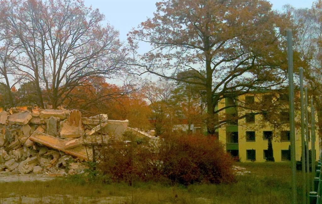 Hausabriss in Berlin-Dahlem