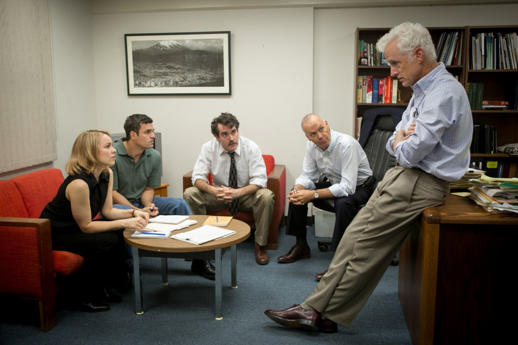 (Von links)  Rachel McAdams, Mark Ruffalo, Brian d'Arcy, Michael Keaton and John Slattery in SPOTLIGHT.   Photo credit:  Kerry Hayes / Distributor:  Open Road Films